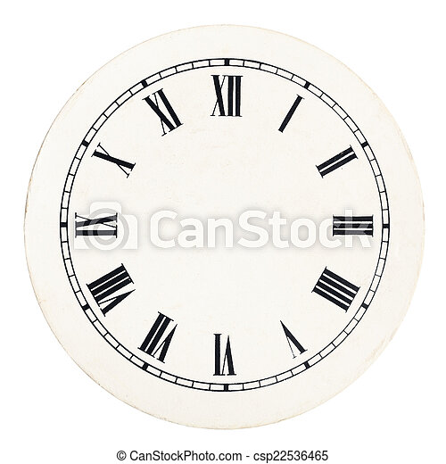 vintage clock dial template real round 12 hour roman numeral clock