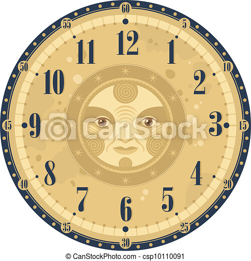 Vintage Clock Face - csp10110091
