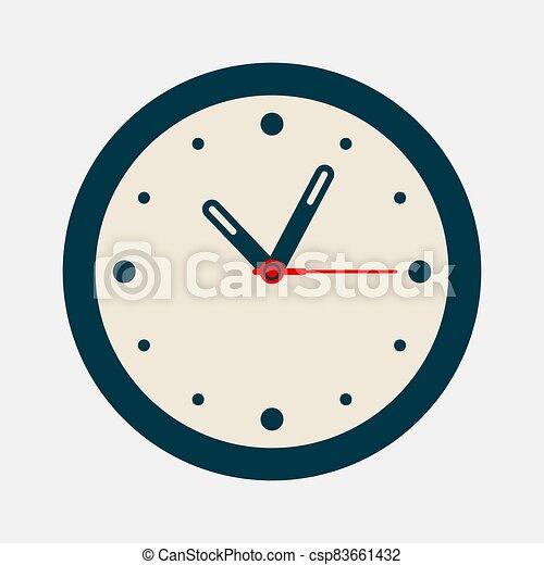 Vintage Clock icon isolated on white background - csp83661432