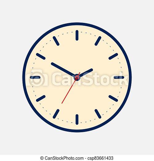 Vintage Clock icon isolated on white background - csp83661433