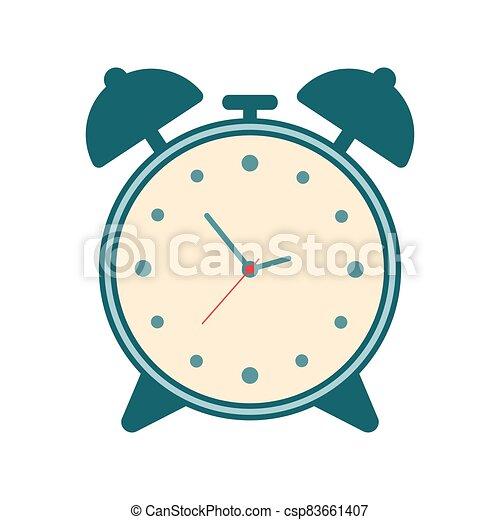 Vintage Clock icon isolated on white background - csp83661407