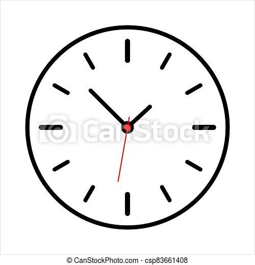 Vintage Clock icon isolated on white background - csp83661408
