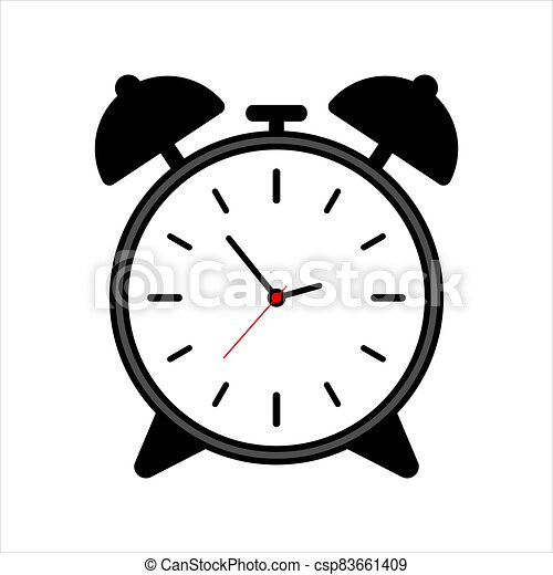 Vintage Clock icon isolated on white background - csp83661409