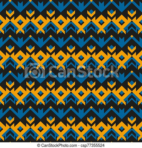 Vintage cloth geometric pattern. - csp77355524