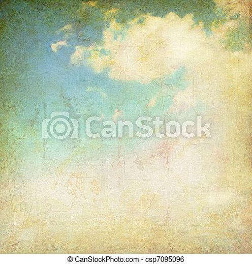 vintage cloudy sky - csp7095096