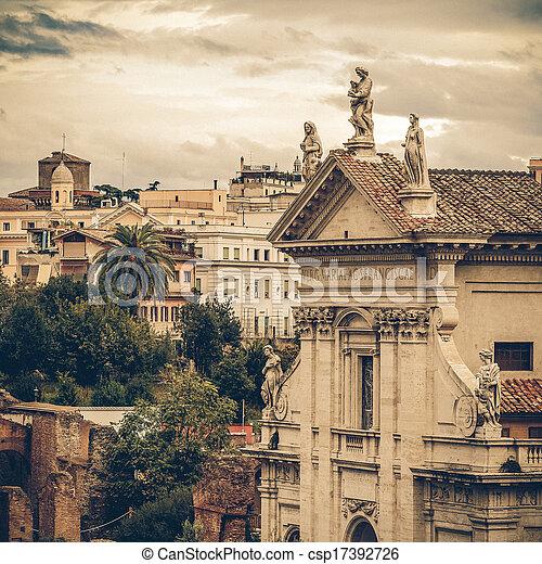 Vintage Coaster Church Of Santa Francesca Romana Rome Italy