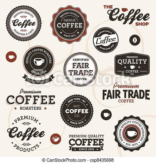 Vintage coffee labels - csp8435698