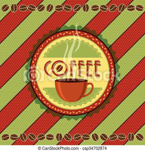 Vintage Coffee Labels - csp34702874