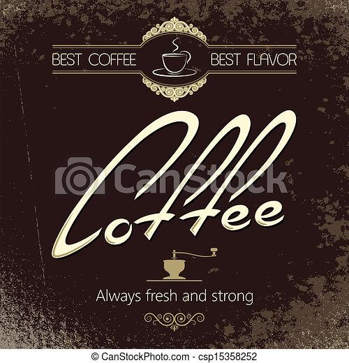vintage coffee menu background  - csp15358252