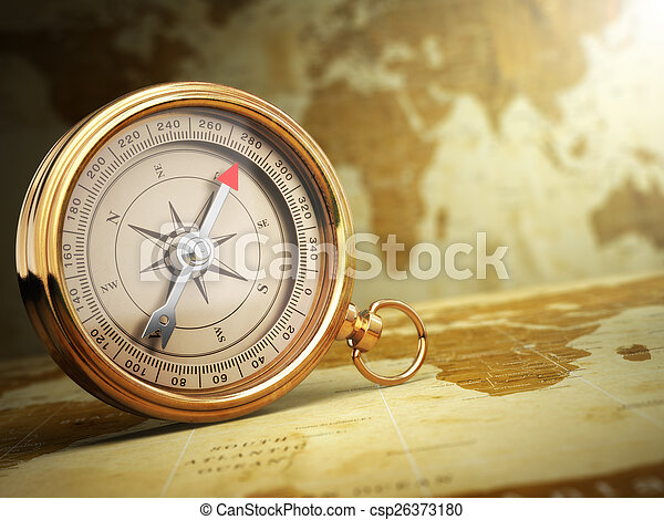 Vintage compass on the old world map travel concept 3d pictures vintage compass on the old world map travel concept csp26373180 gumiabroncs Choice Image
