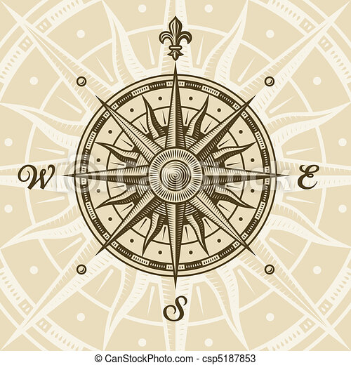 Vintage compass rose - csp5187853