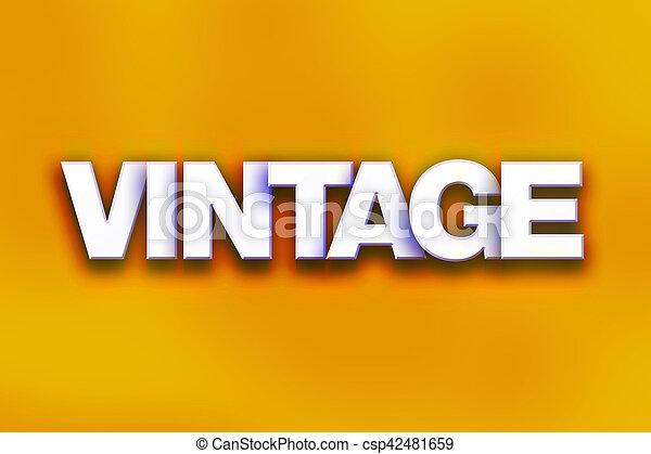 Vintage Concept Colorful Word Art - csp42481659
