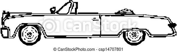 Vintage  Convertible car - csp14707801