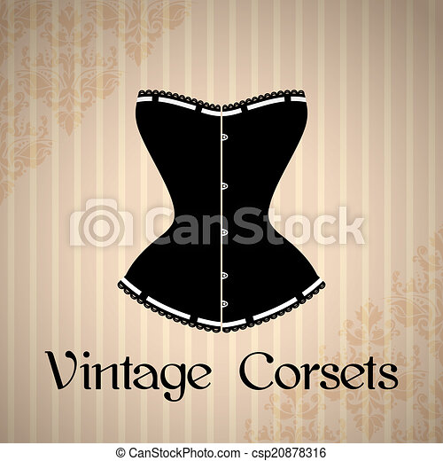 Vintage corset background - csp20878316