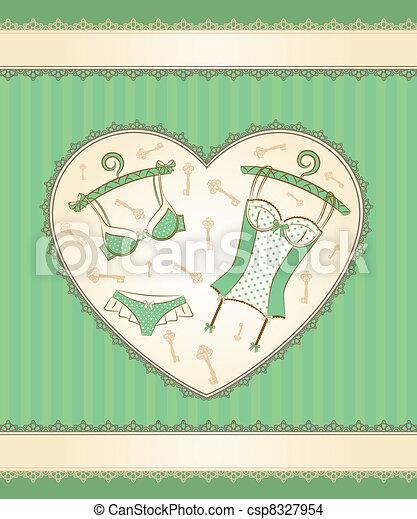 Vintage corset - csp8327954