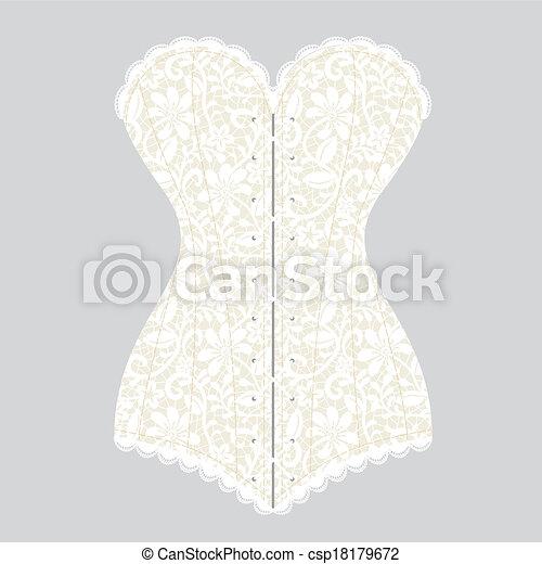 vintage corset - csp18179672