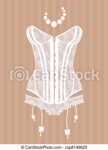 vintage corset  - csp8146620