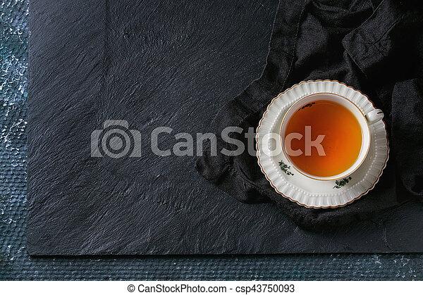Vintage cup of tea - csp43750093