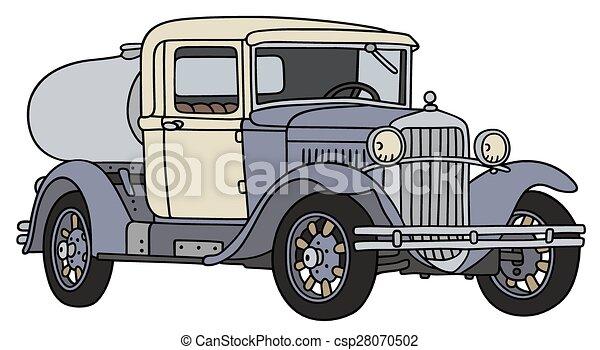 Vintage dairy tank truck - csp28070502