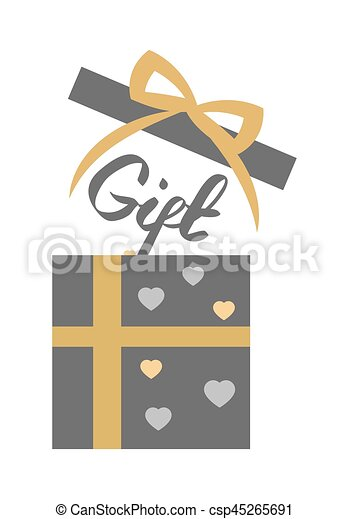 Vintage Decorated Open Gift Box On White Vector