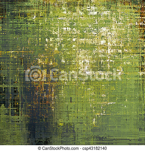 Vintage decorative background, antique grunge texture with different color patterns: yellow (beige); brown; gray; green; white - csp43182140