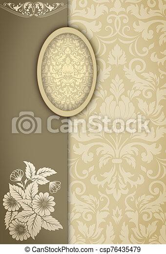 Vintage decorative background. - csp76435479