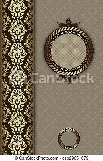 Vintage decorative background with frame. - csp29651079