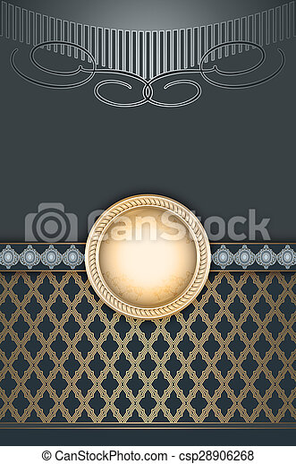 Vintage decorative background with frame for the text. - csp28906268
