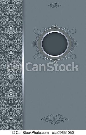 Vintage decorative background with frame. - csp29651050