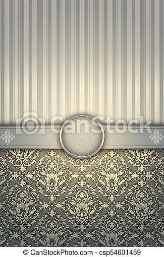 Vintage decorative background with elegant patterns. - csp54601459