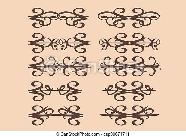 Vintage decorative design elements - csp30671711
