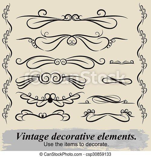 Vintage decorative elements 6. - csp30859133