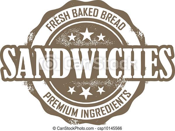 Vintage Deli Sandwich Stamp - csp10145566