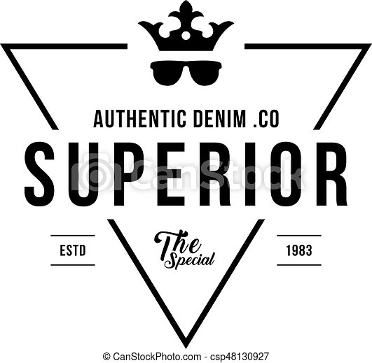 An amazing design of vintage denim jeans frame logo. classical ...