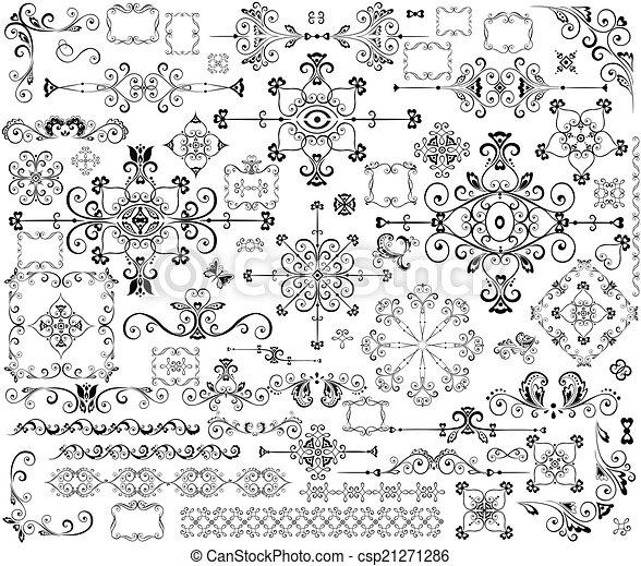 Vintage design elements - csp21271286