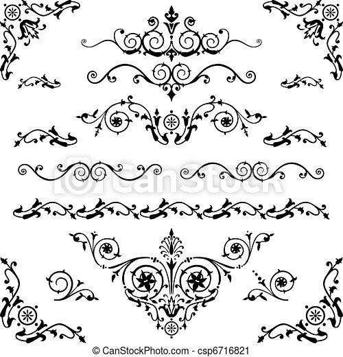 Vintage design elements - csp6716821