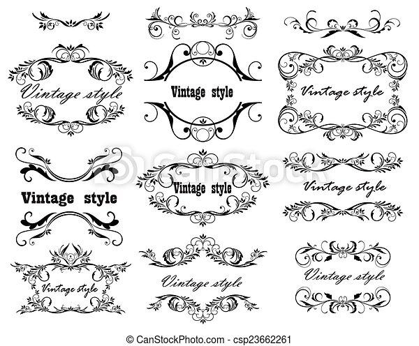 Vintage design. Set - csp23662261
