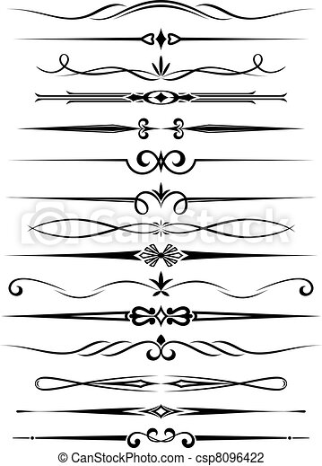 Vintage dividers and borders - csp8096422
