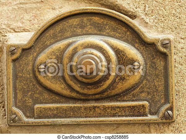 Vintage Door Bell Stock Photo