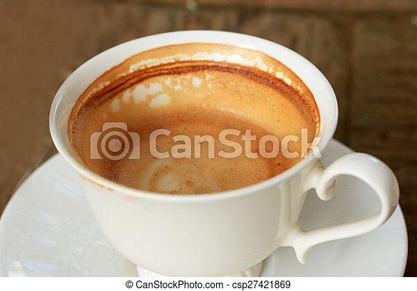 Vintage drinking coffee - csp27421869