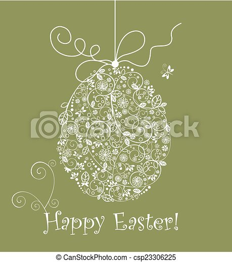 Vintage easter lacy egg - csp23306225