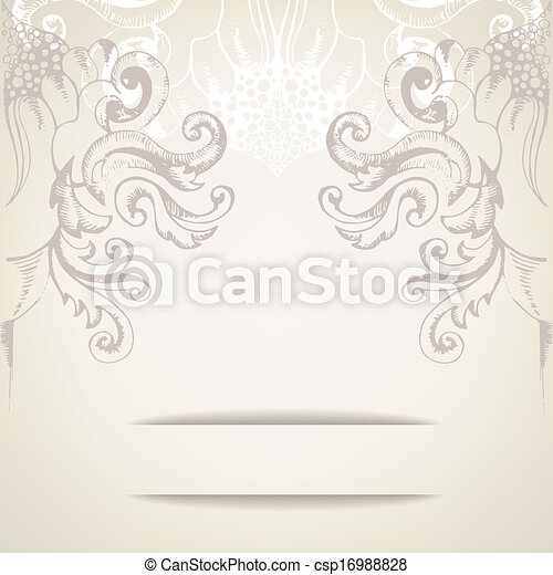 Vintage elegant background for invitations - csp16988828