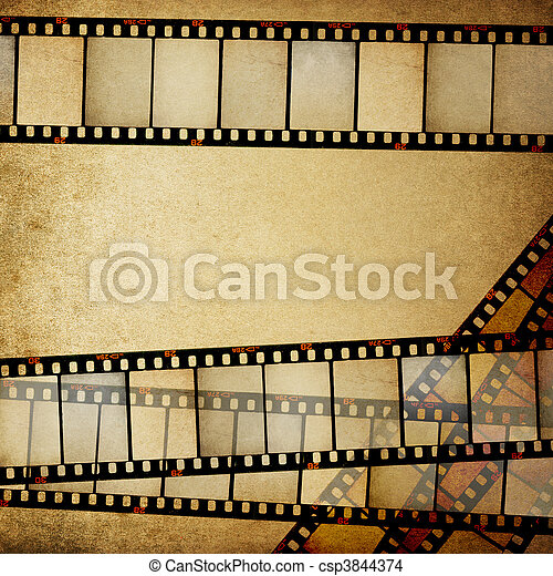 Vintage empy positive films background with space for text. - csp3844374