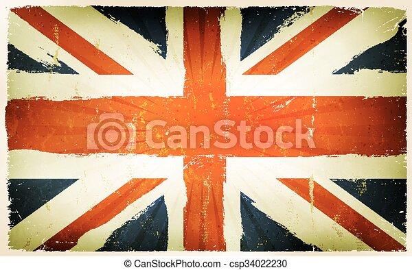 Vintage English Flag Poster Background Illustration Of An