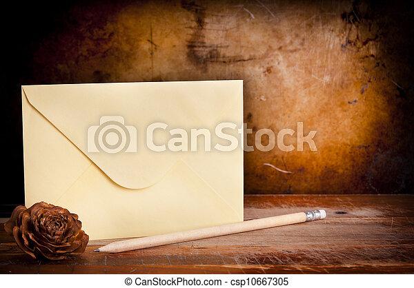 Vintage Envelope Background - csp10667305