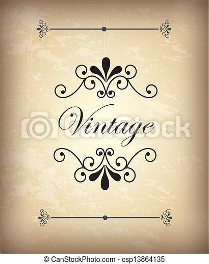 Vintage - csp13864135
