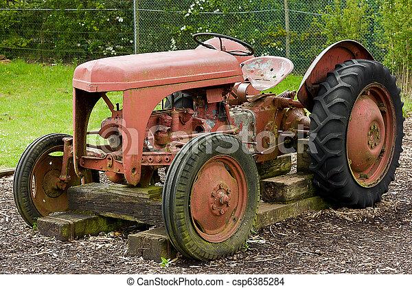 Vintage Farm Tractor - csp6385284