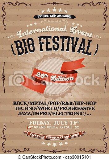 Vintage Festival Invitation Poster - csp30015101