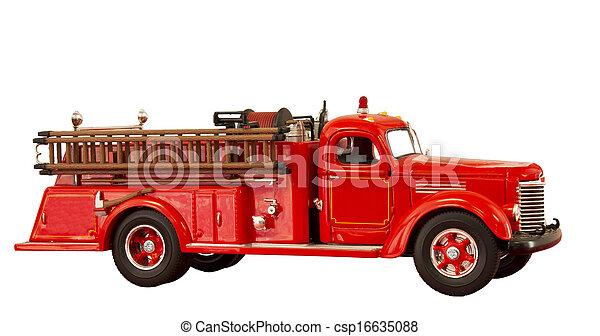 vintage fire truck - csp16635088