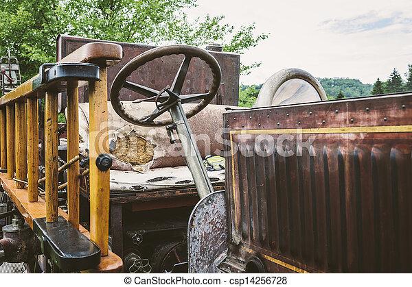 Vintage Fire Truck - csp14256728